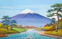 4実りの秋の富士山