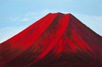 8赤富士山