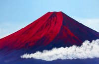 7赤富士山曇