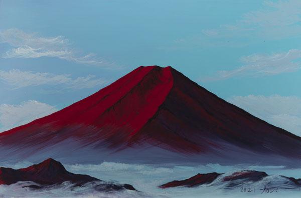 画像1: 9赤富士山雲海